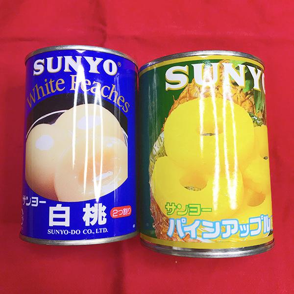 フルーツすき焼き材料