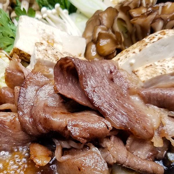 銀座牛すき焼きを食べる2
